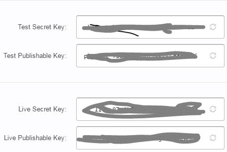 api keys stripe