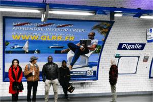 Affiche quitter la rat race métro parisien