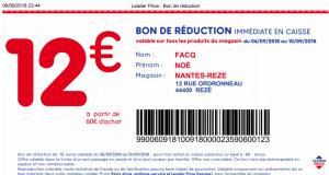 Bon reduction leader price a imprimer