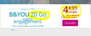Band you bouygues 20 go pour 4 euros